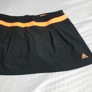 Black & Orange Adidas Climalite Tennis Skirt